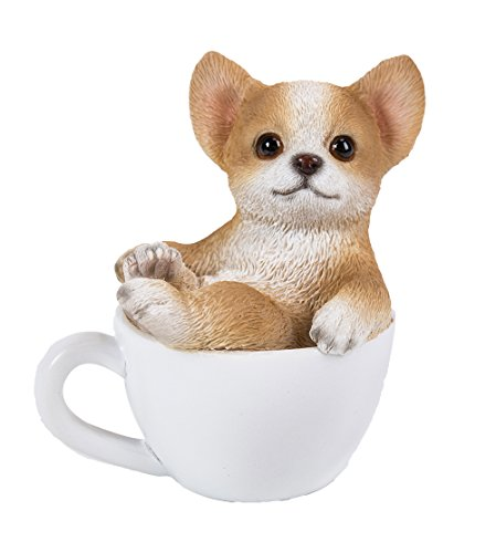 (Pacific Giftware Chihuahua Puppy Adorable Mini Teacup Pet Pals Puppy Collectible Figurine 3.25 Inches)
