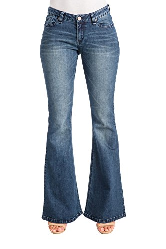 Flare Mid Rise Jeans - 3