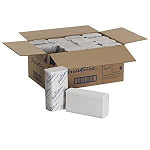 "Georgia-Pacific 21000 Signature 2-Ply Premium Multifold Paper Towel, White, (WxL) 9.2"" x 9.4"" (Case of 16 Packs, 125 Towels per Pack) (2;X 16 Packs)"