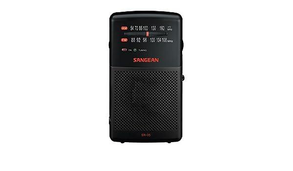 Sangean SR-35 Negro - Radio (AM,FM, 87,5-108 MHz, 520-1710 kHz, 12 W, 8 Ω, 6,35 mm (0.25