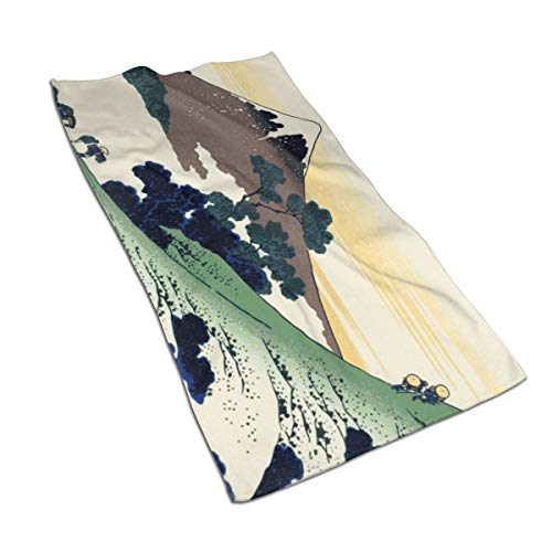 Gaojimaojin Japanese Mount Fuji Painting (2) Floral Print Kitchen Towel Dish Towel Hand Towel Stove Top Towel and Barbeque Towel by Mainstays 28 X 18 Inch