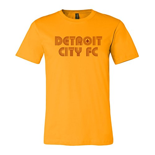 Soccer Club (DCFC Retro - Detroit City Football Club Soccer Team T Shirt - Medium - Gold)