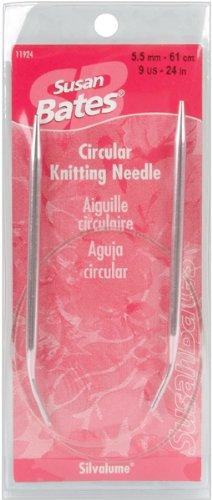 (Susan Bates 24-Inch Silvalume Circular Knitting Needle, 5.5mm)