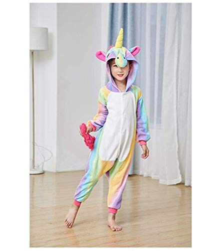 Girls One-Piece Kids Gold Horn Unicorn Pajamas Cartoon Animal Pink Licorne Onesie Sleepers Boy Costume Jumpsuit (130-140)        Amazon imported products in Lahore