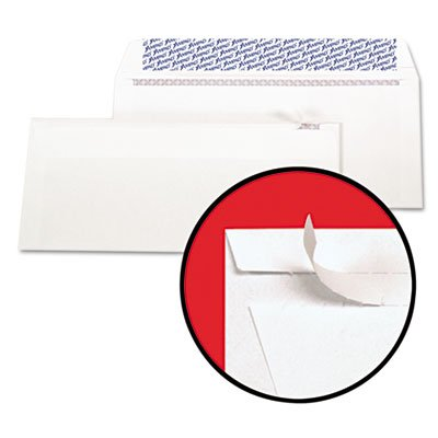 Gold Fibre Fastrip Security Envelope, Self-Adhesive, #10, White, 100/Box