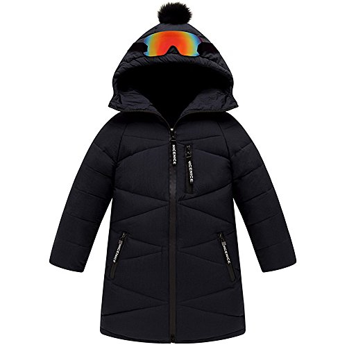 hot QJH New Pattern Big Boys' Down Jacket Kids' Trendy Winter Coat(With Decorative Glasses) supplies
