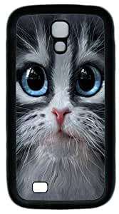 Cool Painting Samsung Galaxy I9500 Cases & Covers -Cutie Pie Kitten Face PC Rubber Soft Case Back Cover for Samsung Galaxy S4/I9500