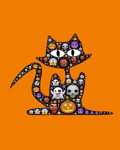Download Cat Sketchbook: Halloween Emoji, Paint or Color for Kids, Drawing, Doodling & Writing Book, Blank Paper & Notebook (Elite Sketchbook) pdf