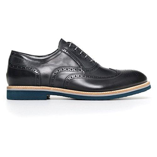 Nero Giardini Herren Niedrige Sneaker, Blau - Blau - Größe: 42 EU