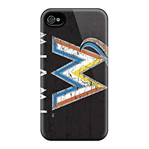 High Quality Apy426Gnjz Miami Marlins Tpu Case For Iphone 4/4S Cover