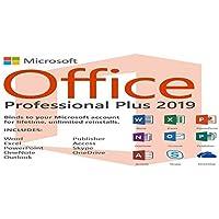Microsoft Office 2019 Pro Plus 2019 (Descarga digital) Solo se enviarán por correo electrónico la clave del producto y el enlace de descarga - No hay CD / DVD / USB