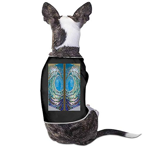 StyleDirect Cute Pet Dog Breathable Print Vest,Big Wave Mosaic Cat Clothing for Spring Summer(Black)-M ()