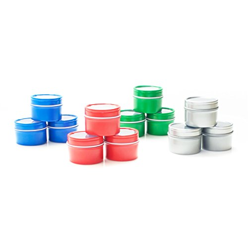 Tin Rust (6 oz Round Rust Resistant Deep Window Steel Tin Can 24 Pack (Blue))