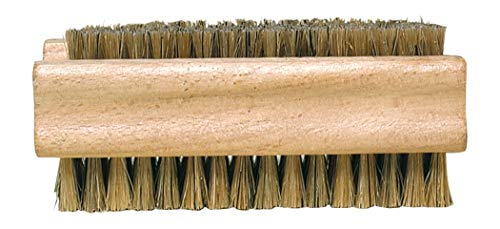 Redecker Natural Pig Bristle Nail Brush with Untreated Beechwood Handle, 3-3/4-Inches