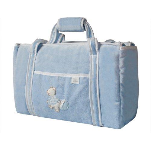 Câlin Câline Olivier 302.15 - Bolso para pañales, diseño de osito, color blanco y azul