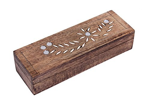 Diwali Gifts Decorative Wooden Watch Necklace Bracelet Holder Keepsake Box Long Jewelry Accessories Makeup Brush Organizer Multipurpose (Wooden Box Brush)