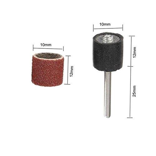 Dremel Sanding Drum Dremel Bits Dremel Sanding Bits #120 52 Pieces Grit Sanding Drum Sleeves Sander with 2 Mandrels for Dremel Rotary Tool