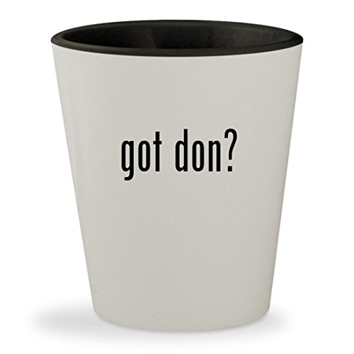 got don? - White Outer & Black Inner Ceramic 1.5oz Shot - Draper Don Glasses
