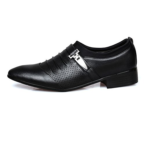 Bianca on Dimensione Nero Leather lavoro Resistente da da uomo 39 EU mesh Color Scarpe Sunny Oxford in Smooth amp;Baby Slip all'abrasione traspirante PU qw4PnUfA