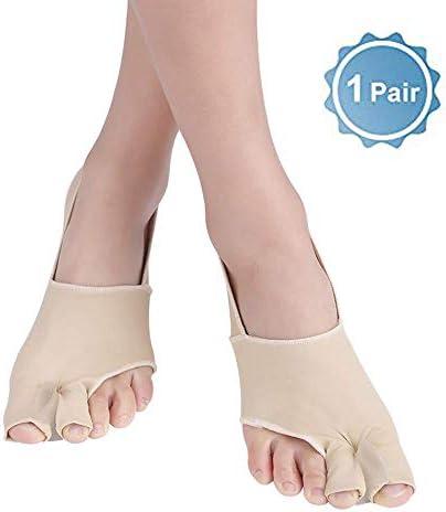 WYZXR Protektoren, Gelgefütterte Protektoren Ultra Thin, Zehenkorrektur für überlappende Zehen, Valgus, Prevent Hammer Toe, Big Toe Joint für Männer, Frauen, S