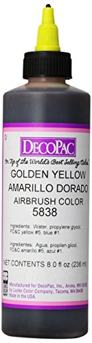 (DecoPac Airbrush Color, Golden Yellow.65 Pound )