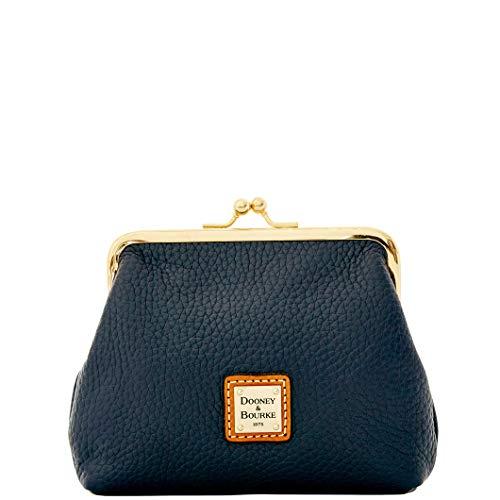 - Dooney & Bourke Framed Pebble Leather Kisslock clutch Midnight Blue