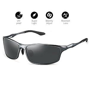 Sunglasses Men's Polarized UV400 protection Classic Retro Wayfarer lightweight Sunglasses