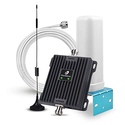 Cell Phone Signal Booster Antenna for Home and Office - 65dB Dual Band 700MHz Band 13/12/17 Cellular Signal Repeater - Boost 4G LTE Data for AT&T