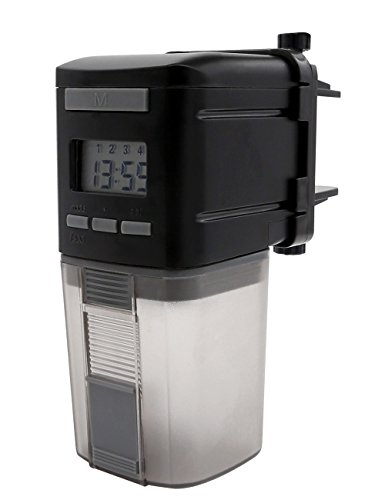 SCOPOW Fish Feeder with Automatic Digital Timer, Fish Turtle Feeder Smart and Adjustable Operated Suitable for Flake Pellets Aquarium Fish Tank, Powered by 2 AA batteries by SCOPOW