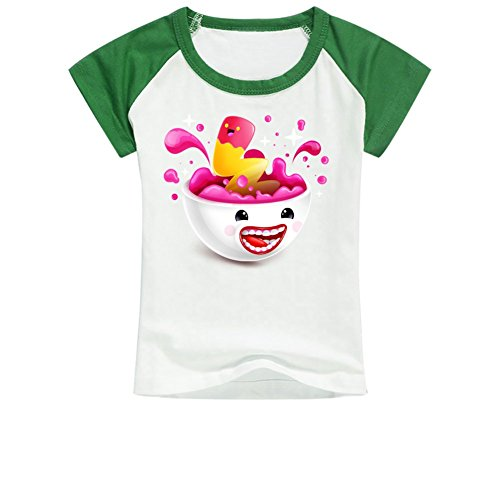 A Funny Ice Cream On The Kid's T-shirt L LightGreen