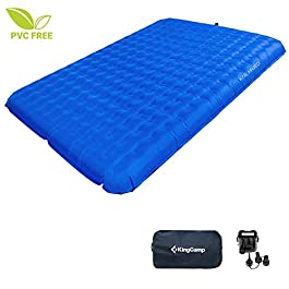 KingCamp Lightweight Camping Air Bed 2 Person Sleeping Pad Mattress PVC-Free with Battery Operated Pump
