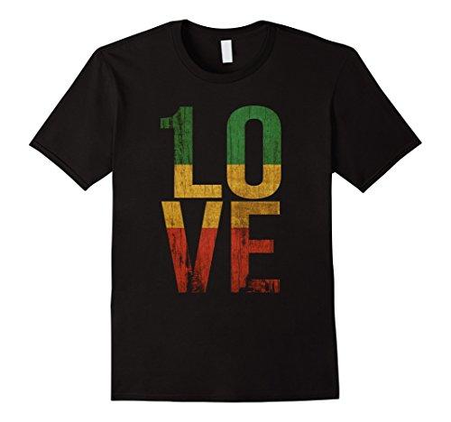 Mens 1 Love T Shirt For Reggae Music Fans 3XL Black