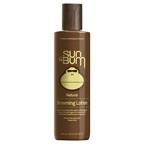 Sun Bum Moisturizing Browning Lotion | Tanning Enhancing Lotion with Aloe Vera &Certified Organic Coconut Oil | Hypoallergenic, Paraben Free, Gluten Free, Vegan | 8.5 OZ - After Tanning Sun Lotion Moisturizing