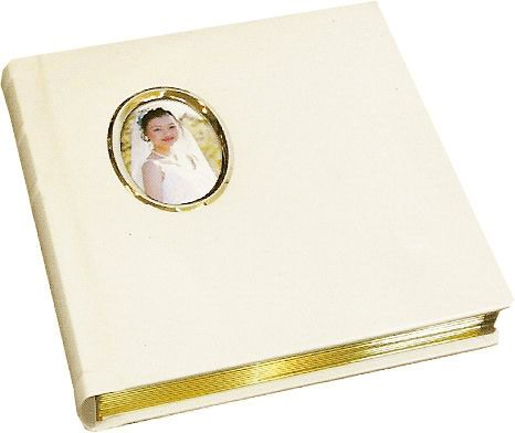 Professional Ivory 10x10 Wedding Photo Album With Mats 50 Pages