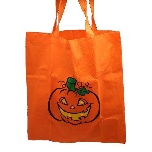 One Flashing LED Pumpkin Jack O Lantern Design Safety Trick Or Treat Bag