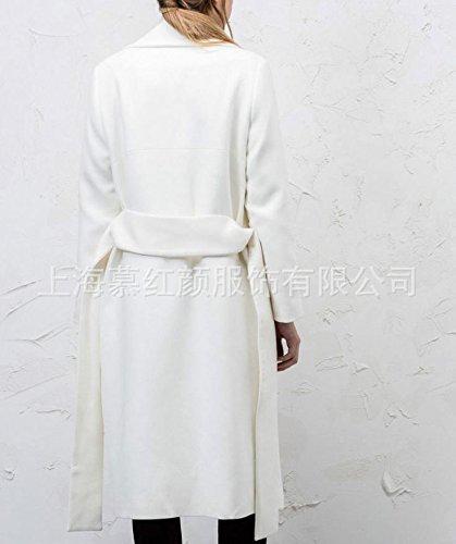 Amazon.com: Mujer Solapa De chaqueta de punto de lana de ...