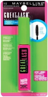 Maybelline Great Lash Waterproof Mascara 112, .43 Ounces, Brownish Black (Pack of 5)