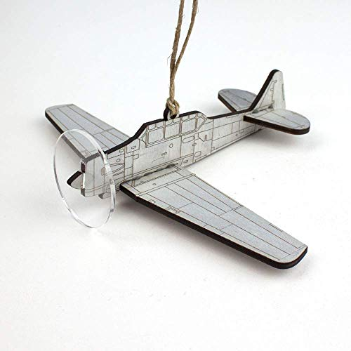 T-6 Texan WWII Trainer Aircraft Christmas ornament