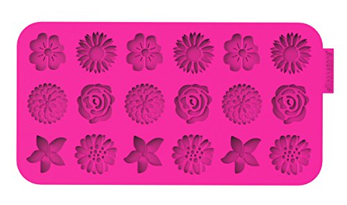 Siliconezone Flowers Chocolate Wafer Mold, Pink