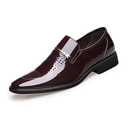 lavoro Pelle Slip da PU Xiaojuan con 44 Uomo Color da Marrone Scarpe Leather fodera Dimensione Smooth shoes formali on Scarpe foderata EU uomo Marrone traspirante Fodere zwztEH