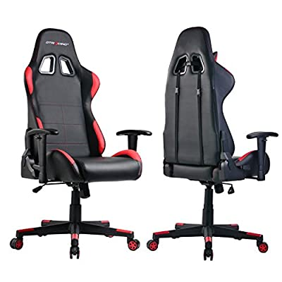 GTracing Gaming Chair Ergonomic Racing Chair PU Leather High-back PC Computer Chair Adjustable Height Professional E-sports Chair with Headrest and Lumbar Pillows GTBEE series from GTRACING