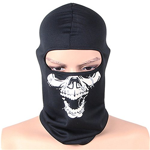 Glumes Fleece Face Mask|Windproof Sun Dust Cold Snow Rain Protection|Skull Pattern|Tactical Mask Bandana Face Shield Warm Scarf|Cycling Fishing Hunting Skiing Outdoor Sport Autumn ()