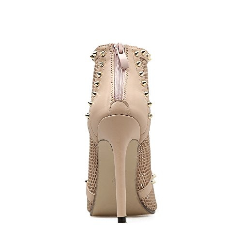 B Heel Sexy Shoes Club Summer Women's amp; Stiletto Wedding Heels for ShoesTulle Shoes Evening Rivets Fall Party q8ax80p