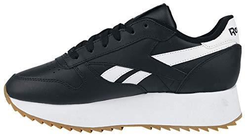 Sneaker Cl Lthr bianco Nero Double Reebok q7tnwdvxq