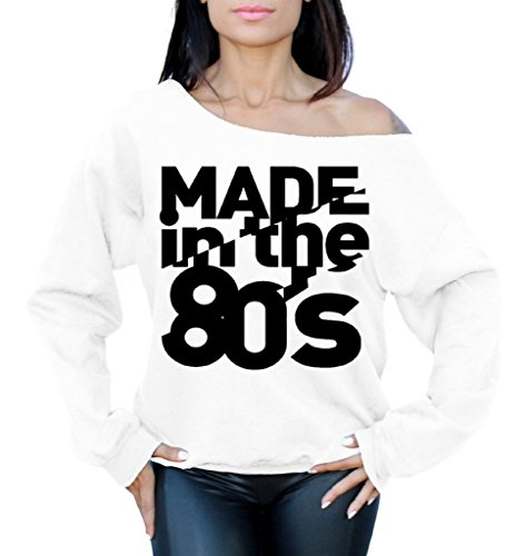 Made In The 80s Off the Shoulder Oversized Slouchy Sweatshirt. 6 Colors - S to XL