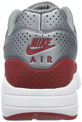 Nike Air Max 1 Ultra Moire, Scarpe Sportive, Uomo Gris / Rojo / Blanco (Mtlc Cool Grey/Gym Red-white)