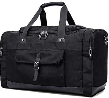 8795143951 KAKA Large Capacity Men Travel Bags Waterproof Duffel Bags Oxford Male  Leisure Multifunction Handbags Fashion Shoulder Bags New (Black)   Amazon.in  Bags