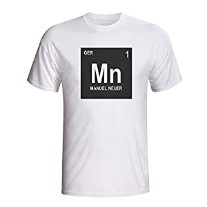 5ae6ef2ac62 Image Unavailable. Image not available for. Color  Manuel Neuer Germany Periodic  Table T-Shirt ...