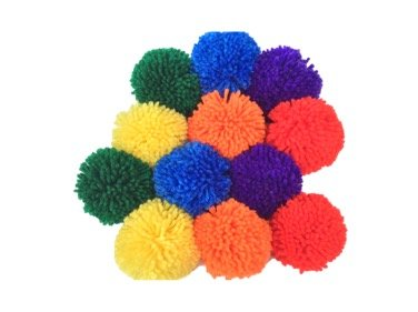 12-Pack 3.5'' Yarn Sport Balls / Soft Fleece Balls (Rainbow Pack) by Fluffilo