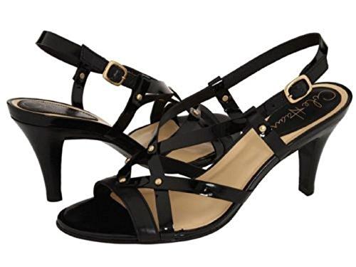 Cole Haan Women's Air Vineyard Black Patent Slingbacks Sandals Heel Shoes 7